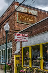 NC, Waynesville - Coca-Cola Wall Sign