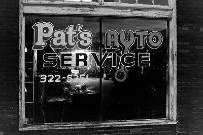 Pat's Auto at Night