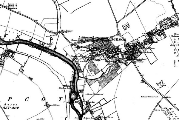 <font size=3><u> - Map of Village - 1885 - </u></font> (BS1005)