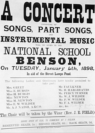 <font size=3><u> - Poster -   </u></font> (BS0288)  Concert Benson School.