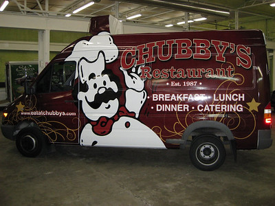 Full wrap of a Sprinter for Chubby's Restaurant in Dallas TX.   http://www.skinzwraps.com
