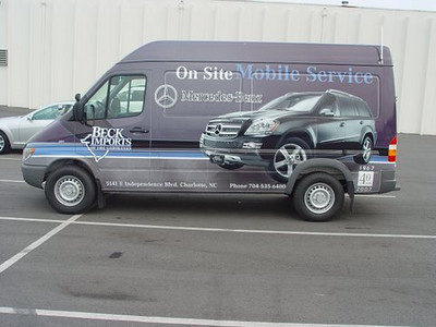 Vehicle Wrap installed on a Sprinter Van for Beck Imports.   http://www.skinzwraps.com