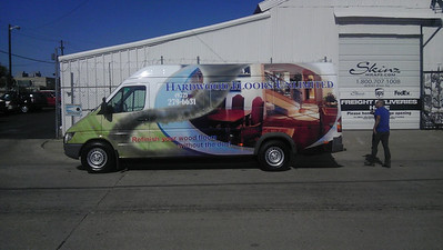Sprinter Wrap for Hardwood Floors Unlimited in Dallas, TX www.skinzwraps.com