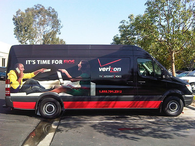 Sprinter wrap for Verizon FIOS in Los Angeles, CA www.skinzwraps.com