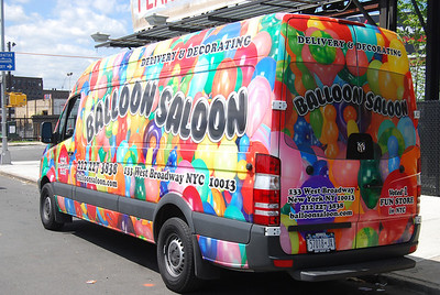 Sprinter Wrap for Balloon Saloon, New York, NY.   http://www.skinzwraps.com