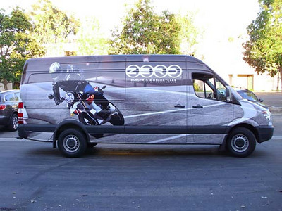 Sprinter wrap for Zero Electric Motorcycles in Los Angeles, CA www.skinzwraps.com