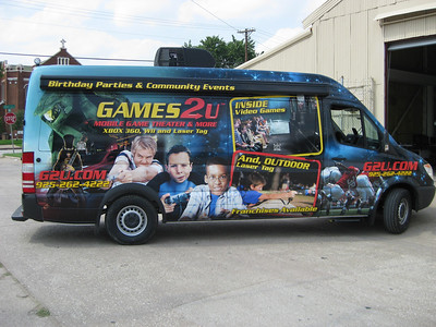 Sprinter wrap for Games 2 U in Dallas, TX.    http://www.skinzwraps.com