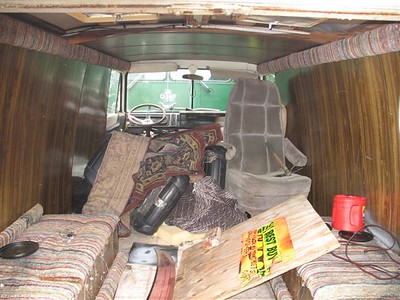 Inside of my 1970 a100 before restore.