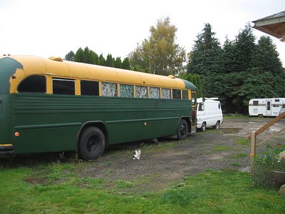 Busmans 1984 crown bus and 1970 a100 garage sale special.