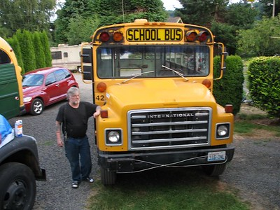 the Busman himself. i did have three buses but i sold the 1963 shorty. you can barely see the front end.