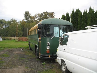 Busmans 1984 crown bus and newly aquired 1970 a100.