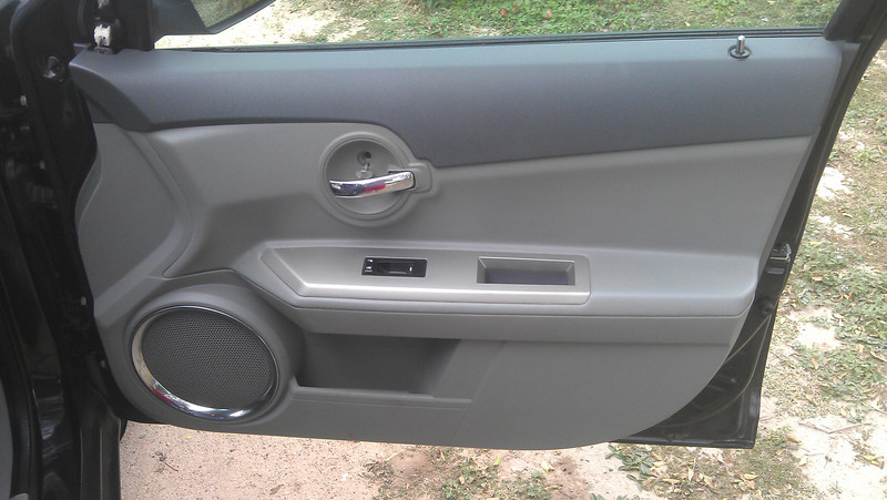 1. This is the front of the door panel