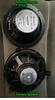 Comparison (rear view):<br /> Top: Aftermarket speaker<br /> Bottom: Factory speaker