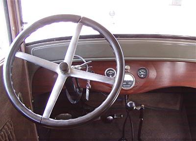 1926 Dodge Brothers 4 Door Sedan - Note Steering Wheel and Throttle/Spark Adv