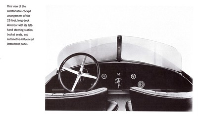 Dodge Watercar 22' Automotive Influenced Dash and Steering Wheel
