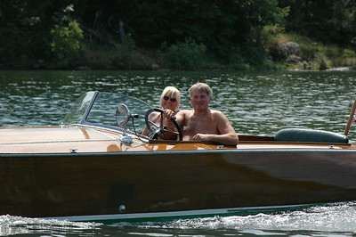 Phil and Sue Halpin Boating in a 1925 Dodge Watercar on the St. Lawrence River