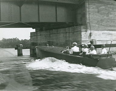 Horace Dodge Jr. (Back Right) Early Dodge Watercar - Rosenfeld Collection Mystic Seaport