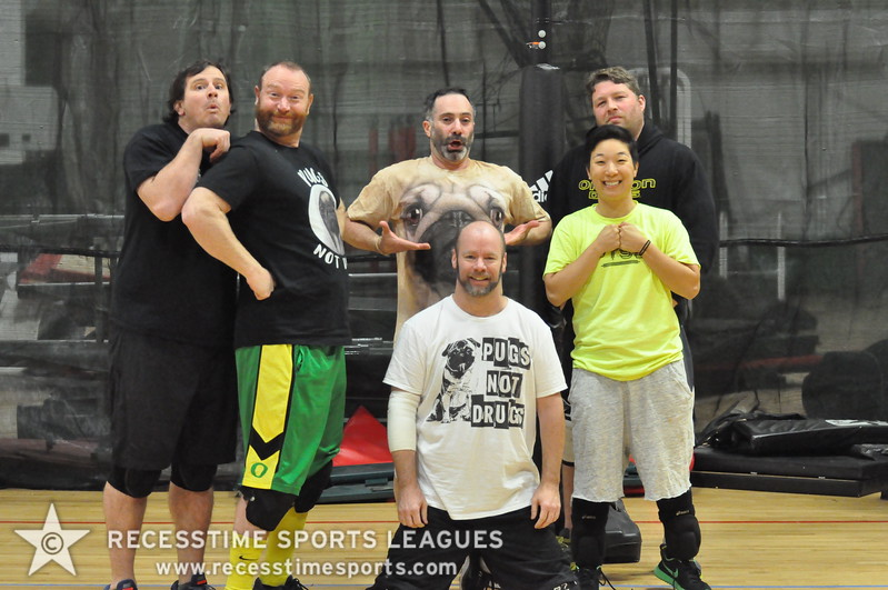 Pugs Not Drugs -  Thursday Night 8.5 Rubber Recesstime Dodgeball Portland, Oregon