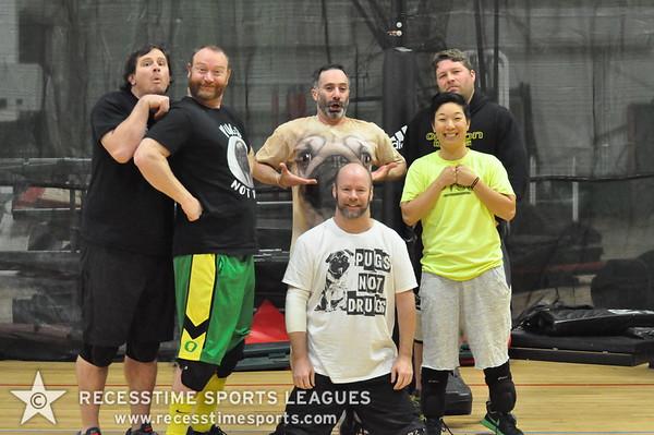Pugs Not Drugs -  Thursday Night 8.5 Rubber Recesstime Dodgeball Portland, Oregon