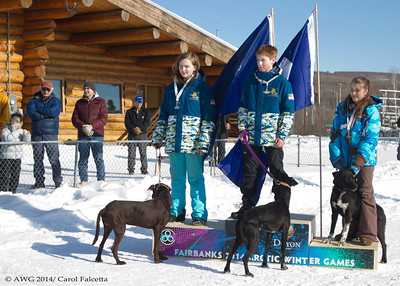 March 17 2014 Cole Alaska 1st place, Maruskie Alaska 2nd place, Beck NWT 3rd place