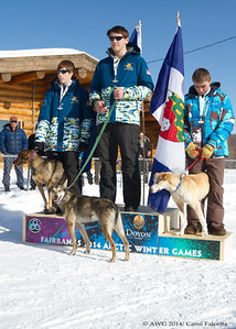 March 17 2014 Andrew Rockcastle Noble Alaska 1st place, Trevor James Henry Alaska 2nd place, Brandan Tuckey NWT 3rd place