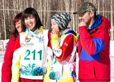 March 20 2014 Patricia and Ethel Ford Team Nunavut made history today, being the first females to bring a medal to Nunavut for dog mushing from the Arctic Winter Games!!