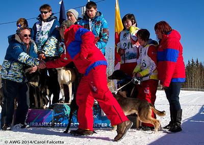 March 20 2014  Nunavut Coach congratulating Alaskan Coach