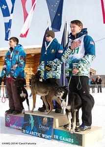 March 18 2014 Cole Alaska 1st place, Maruskie Alaska 2nd place, Beck NWT 3rd place