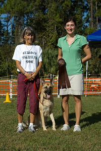 German Shepherd, 2nd place, Rally Excellent