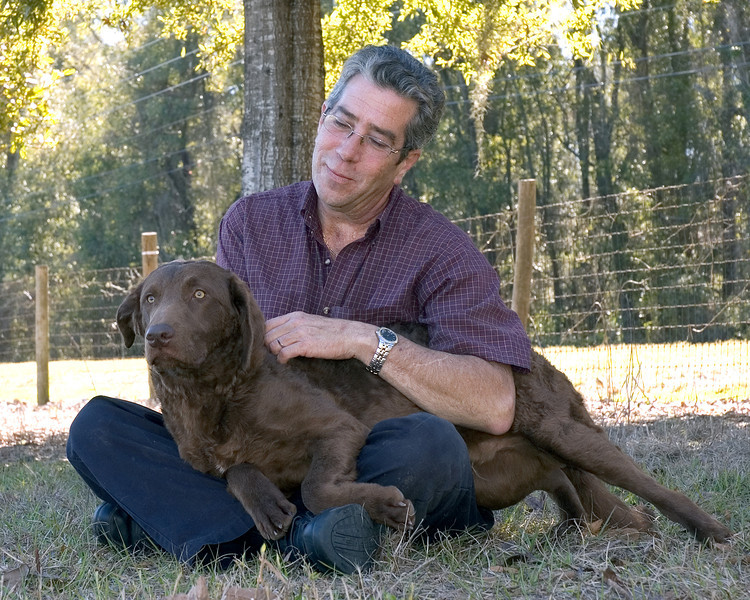 Gary Sheetz with his special dog, Treasure - Gainesville show - Jan. 2008