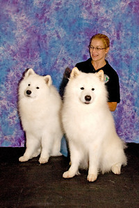 Stephanie Sagan proudly poses with her two boys, Koa and Kempas, both of whom competed in the Adult Male class.