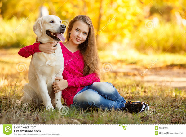 http://www.dreamstime.com/royalty-free-stock-photography-portrait-young-girl-sitting-ground-her-dog-retriever-autumn-scene-beautiful-woman-dogs-labrador-posing-image36403367