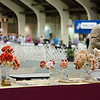 San Diego Brittany Club Trophy Table<br /> Paper Quail by Deborah Frane<br /> Paw Print Tissue Flowers by Deborah's mom, Jean Page