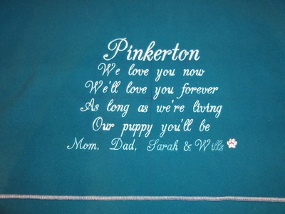 Blanket for Pinkerton