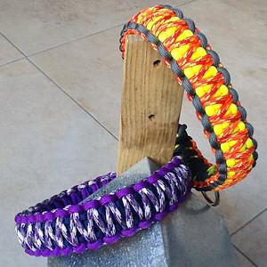 Kari en Ronja's paracord halsbanden
