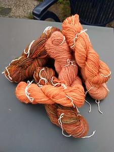 De 'Oranje collectie' na het spinnen