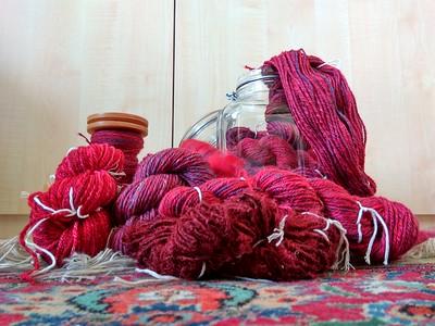 Project gemaakt met deze zelfgesponnen wol