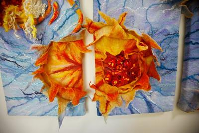 """Detail """"gelaagde krater"""" 2e en 3e paneel"""