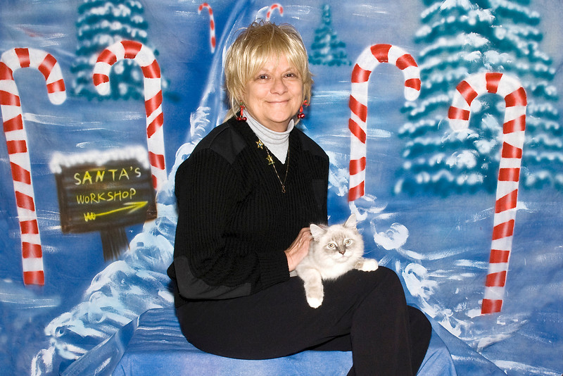 Rocky Bandit, a Ragdoll kitten,and Rosie Kahanek