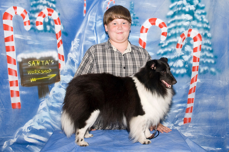Secret, a Shetland Sheepdog, and JD.  Secret is owned by Judy Ault