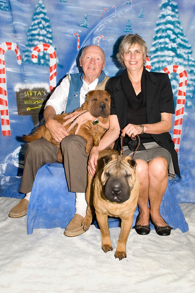 The Matto family with their Shar Peis, Monet & Baron.