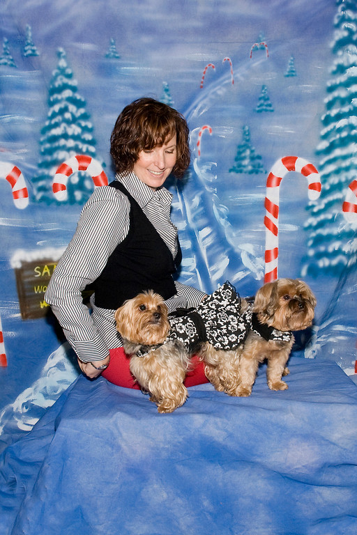 Beth Stevens and her Yorkshire Terriers