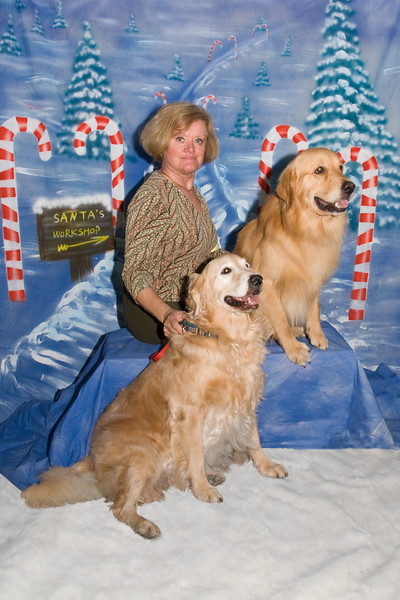 Joanna Brousell & her Golden Retrievers, Lilly & Trooper
