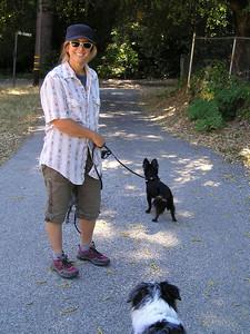Team Small Dog human humors the camera person.