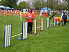 dog agility jumps for serpentine practice with Mary Ellen Barry