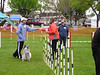 Kathie Leggett weave poles in dog agility