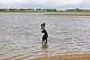 Pim en Fabio in het water