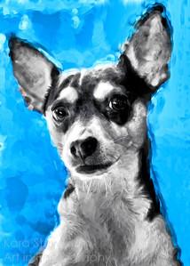 Modern Art Rat Terrier
