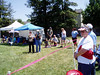 Barbara and Ellen announcing the demo (VEP Memorial Day Festival and Dog Agility Demo--Photo by Marilyn Rodgers)