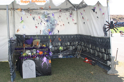 More Halloween kennel decor.